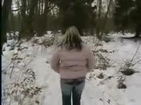 Зимний лес как место для секса